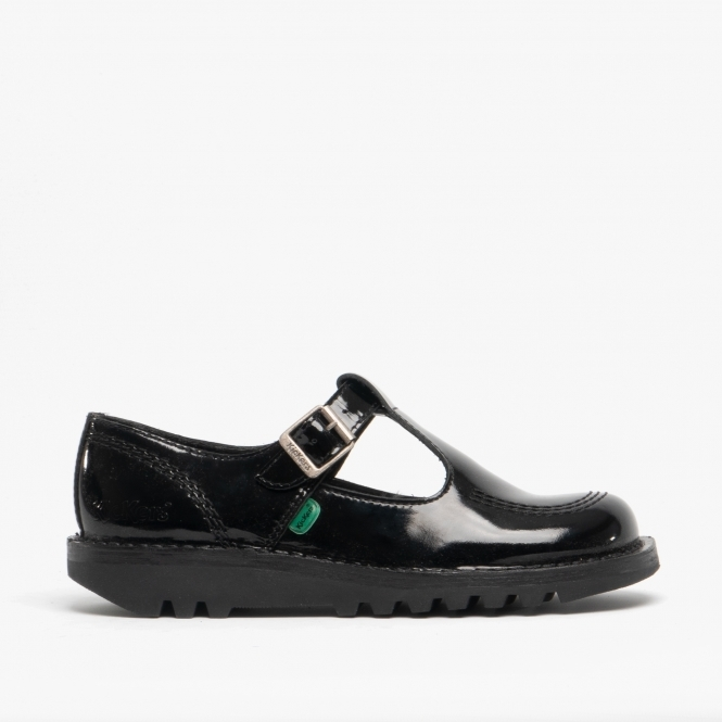 black kickers school shoes