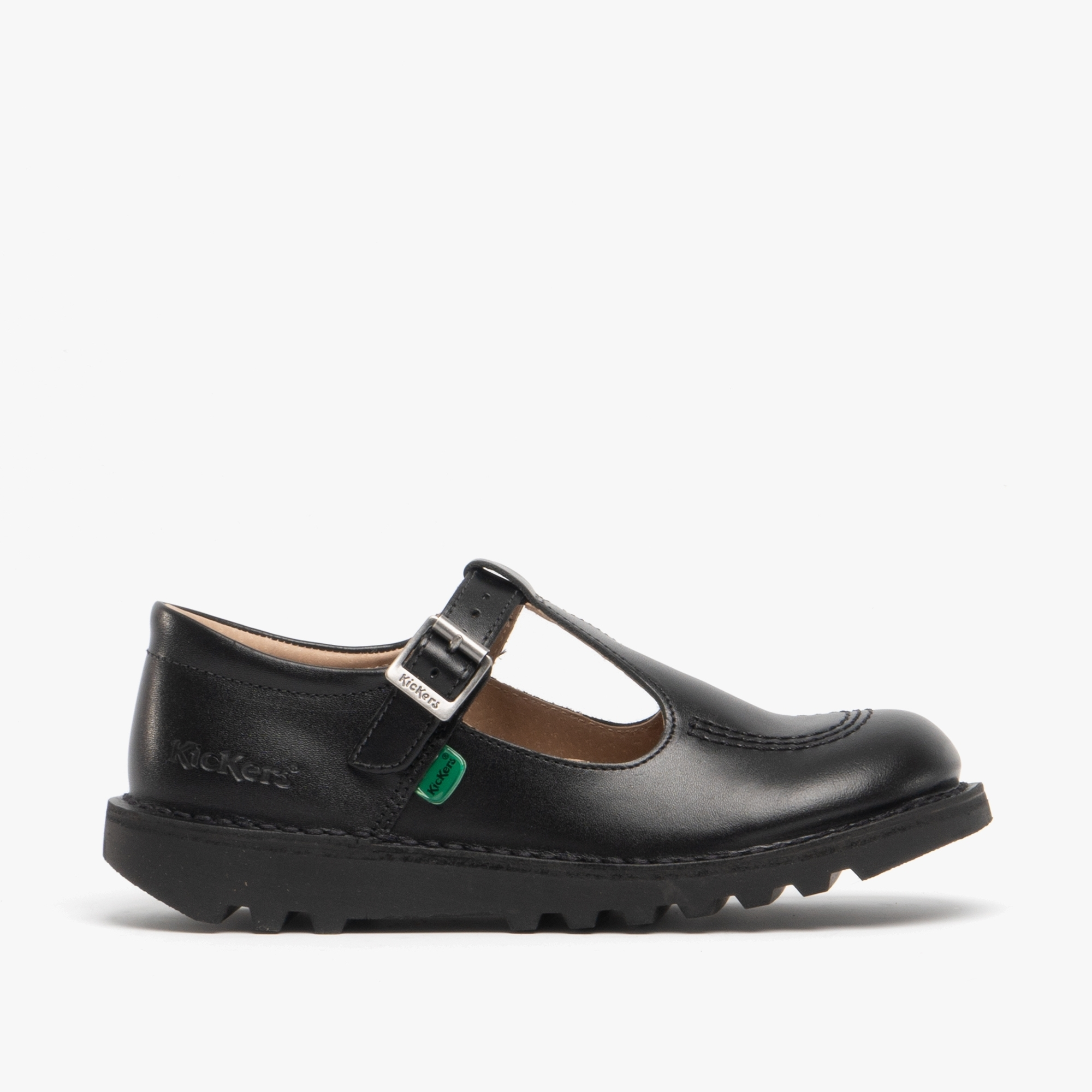 Bar Leather Shoes Black | SchoolShoes.co.uk