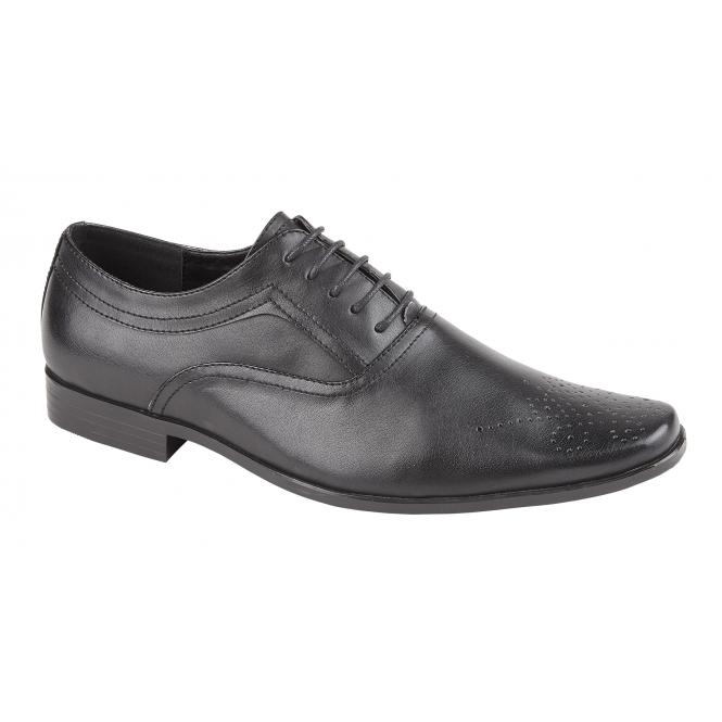 e84ebb288be1 BENTLEY Mens Formal Smart Broguing Oxford Shoes Black l Shumo.co.uk